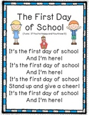 The First Day of School Poem-First Week of School Poem and Activities