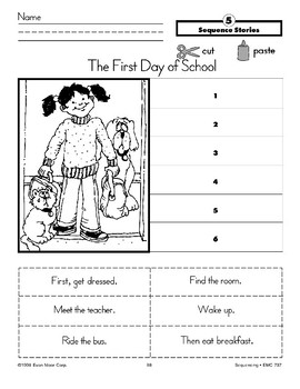 The First Day of School (Sequence Stories)