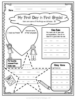 The First Day of School Writing Journal for K-3