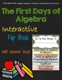 The First Days of Algebra Interactive Flip Book