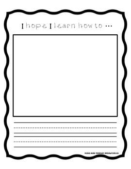 The First Days of Kindergarten - Reading Response Activities