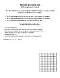 The First Derivative Test