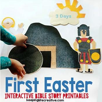 The First Easter {Resurrection Printable Felt Set}