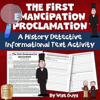 The First Emancipation Proclamation Informational Text Activity