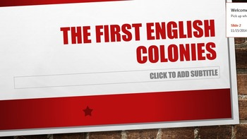 The First English Colonies