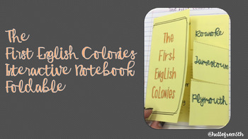 The First English Colonies Interactive Notebook