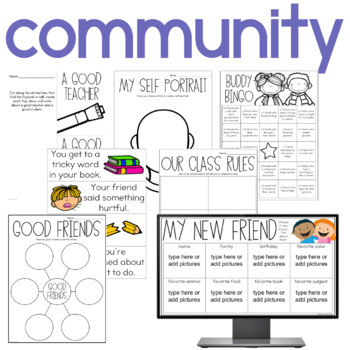 Beginning of the Year Activities and Lessons For First and Second Grade
