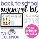 DIGITAL and Printable Activities for Back to School {Distance Learning}