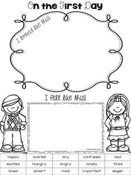 The First Few Days - Back to School Printables