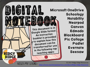 The First Fleet Digital Student Notebook