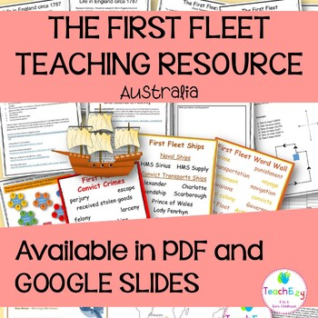 The First Fleet Posters and Teaching Activities