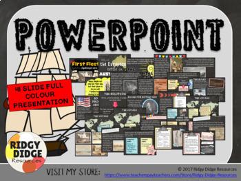 The First Fleet Powerpoint and Digital Student Notebook Bundle