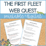 The First Fleet | Web Quest | Distance Learning