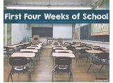 The First Four Weeks of School Literacy Unit Bundle