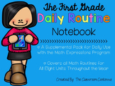 The First Grade Daily Routine - Supplement for Math Expressions