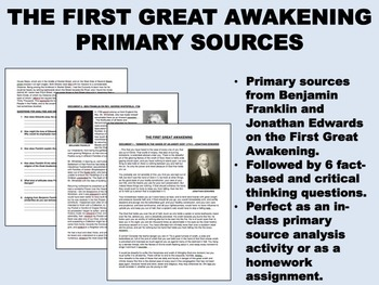 The First Great Awakening - Jonathan Edwards, Ben Franklin - US History/APUSH