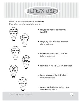 The First Hot Air Balloon Ride: Reading Comprehension Activities for Grades 1-3