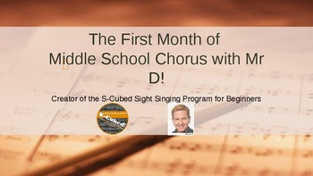 The First Month of Middle School Chorus with Mr D!