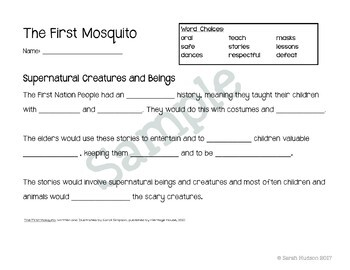 The First Mosquito - A First Nations/ Native American Legend