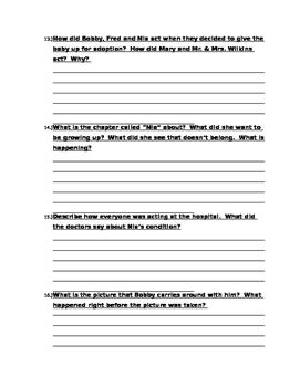 The First Part Last, Angela Johnson Quiz 4