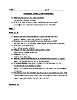 The First Part Last, Angela Johnson Study Guide