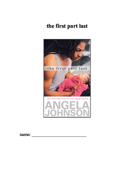 The First Part Last by Angela Johnson - Study Guide, Projects, & Test