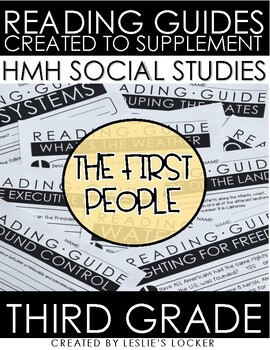 The First People aligned with HMH Social Studies Grade 3