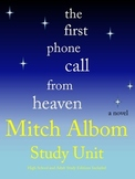 The First Phone Call from Heaven by Mitch Albom Study Unit and Book Club Items