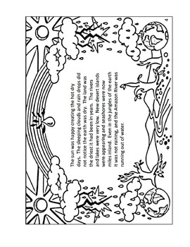 The First Rainbow: Coloring Book & Environmental Story Printable