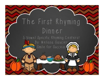 The First Rhyming Dinner {Short Vowel Rhyming}