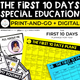 The First Ten Days- Special Education Back to School Lesson Plans