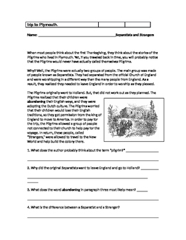The First Thanksgiving: A Mini Unit for Grades 4 - 6