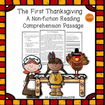 The First Thanksgiving- A Non-fiction Reading Comprehension Passage