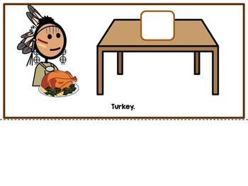 The First Thanksgiving- Adapted Interactive Book {Autism, Early Childhood}