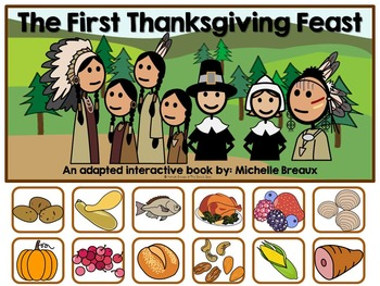 The First Thanksgiving- Adapted Interactive Book {Autism,