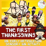 The First Thanksgiving: An Articulation Sensory Bin Activity