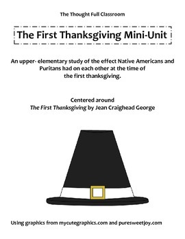 The First Thanksgiving Book Study Mini-Unit
