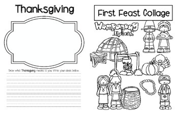 The First Thanksgiving Booklet