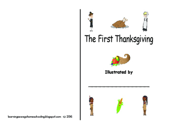 The First Thanksgiving Booklet Illustrated by You!