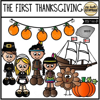 The First Thanksgiving (Clip Art for Personal & Commercial Use)