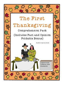 The First Thanksgiving Comprehension Pack
