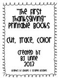 """""""The First Thanksgiving"""" Cut, Trace and Color Printable Book"""