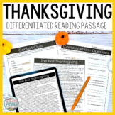 The First Thanksgiving Differentiated Reading Passage Dist