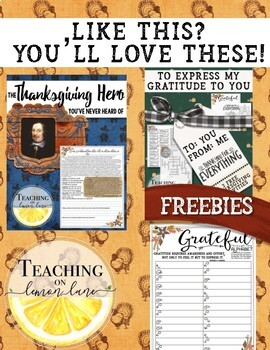 The First Thanksgiving Dinner / Reading Comprehension and Questions for Fall