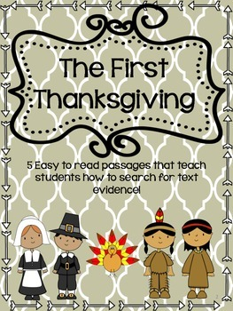 The First Thanksgiving-Finding Text Evidence