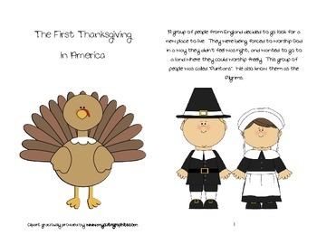 The First Thanksgiving In America Mini book