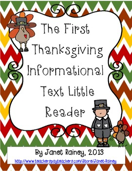 The First Thanksgiving Informational Text Little Reader