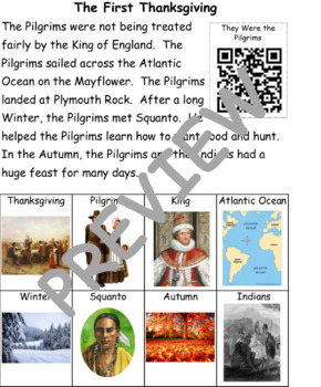 The First Thanksgiving: Informational Text and Writing Activity