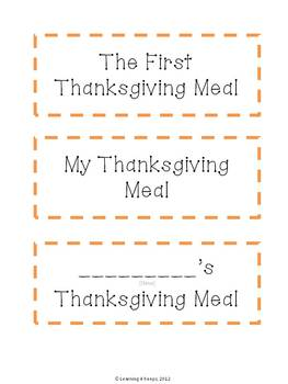 The First Thanksgiving Meal Project