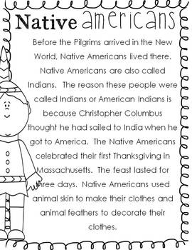 The First Thanksgiving Packet and Craftivity